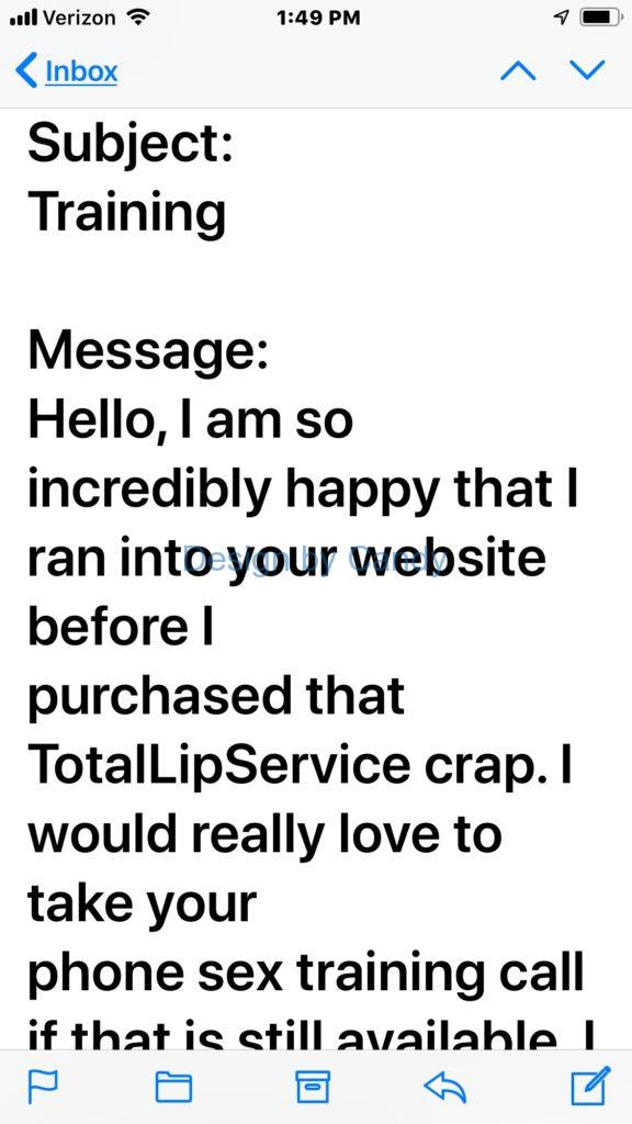 totallipservice sucks bad designers shitty copy writing